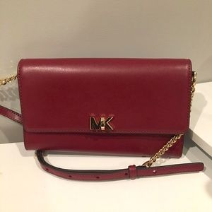 Michael Kors Maroon Clutch (never used but no tag)